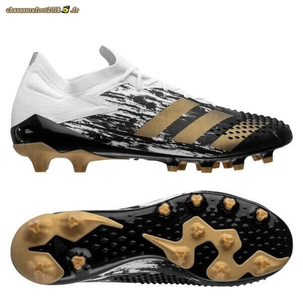 Soldes Chaussure Adidas Predator 20.1 Low AG Inflight Blanc Or Noir Pas Cher