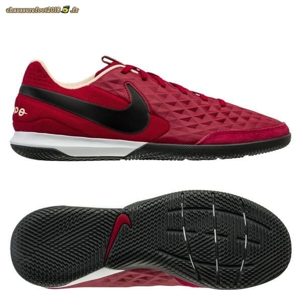 Vente Chaussure Nike Tiempo Legend 8 Academy IC Play Mode Rouge Noir Blanc - Chaussures de Foot