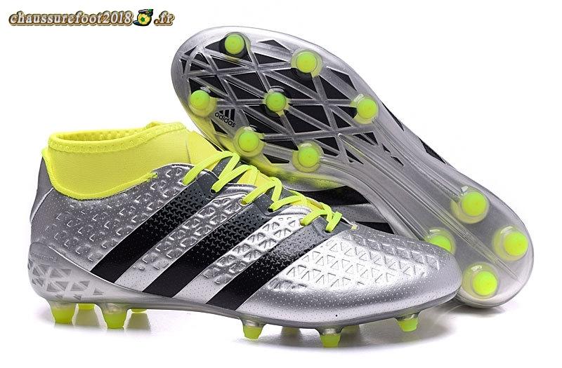 official photos 9059f 8abc7 Acheter Chaussure Adidas Ace 16.1 FG AG Argent Vert Fluorescent Chaussure  de Foot Salle