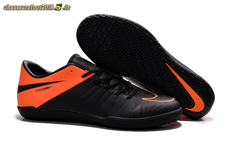 Buy Chaussure Nike HyperVenom Phelon II INIC Noir Orange - Crampon de Foot