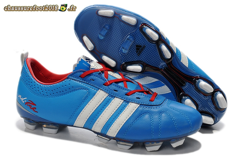Chaussure Foot Promo - Chaussure Adidas AdiPure 11Pro IV FG Bleu Rouge - Meilleur Chaussures de Foot