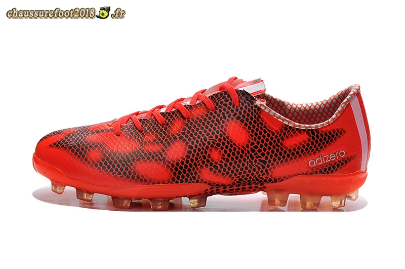 Chaussure Foot Promo Chaussure Adidas F50 Adizero AG Rouge