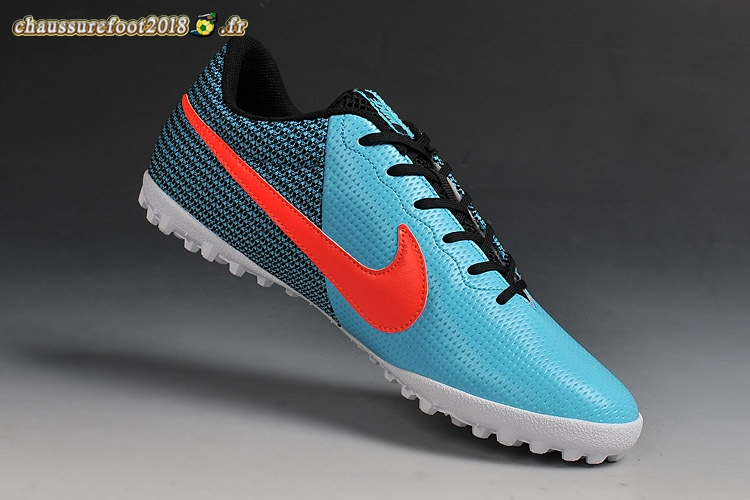 Chaussure Foot Promo - Chaussure Nike Elastico Finale III TF Noir Bleu Rouge Pas Cher