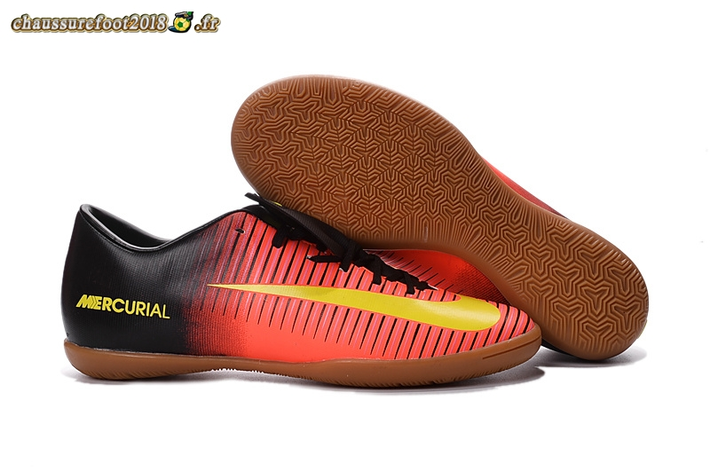 Chaussure Foot Promo - Chaussure Nike Mercurial XI INIC Noir Jaune - Chaussures de Foot