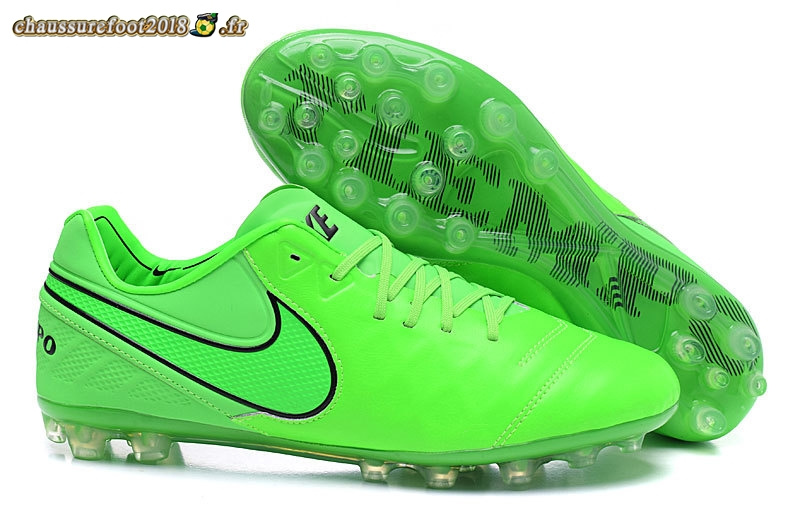 Chaussure Foot Promo - Chaussure Nike Tiempo Legend VI AG Vert Chaussure de Foot Salle