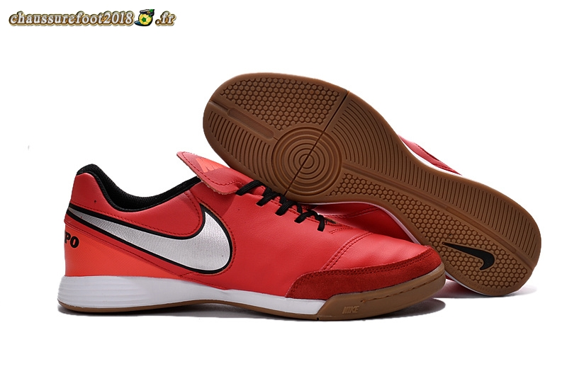Chaussures de Foot - Chaussure Nike Tiempo Mystic V INIC Rouge - Meilleur Chaussures de Foot