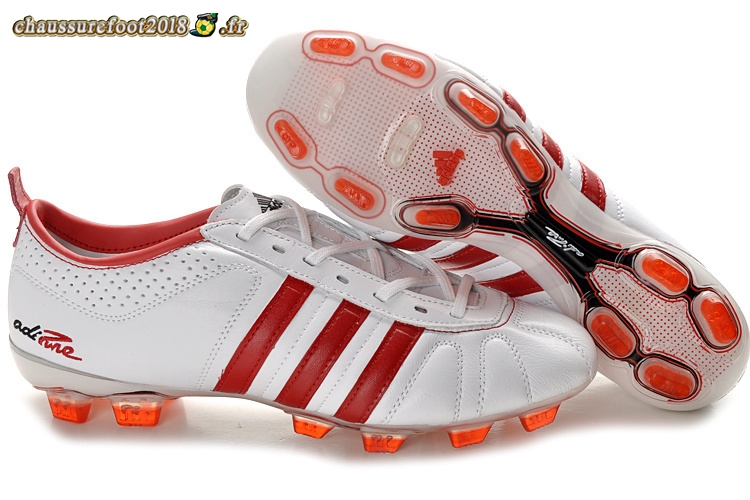 Destockage - Chaussure Adidas AdiPure 11Pro IV FG Blanc Rouge Pas Cher