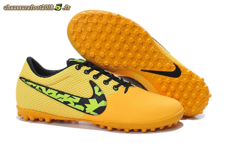 Hot Chaussure Nike Elastico Pro III TF Orange Noir En Solde