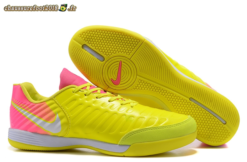 Nouvelle Chaussure NIke Tiempo Mystic VII INIC Jaune Rose - Chaussures de Foot