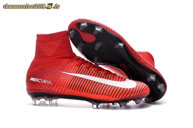 e407b7ff846 ... Offres Chaussure Nike Mercurial Superfly FG Rouge Blanc Pas Cher ...