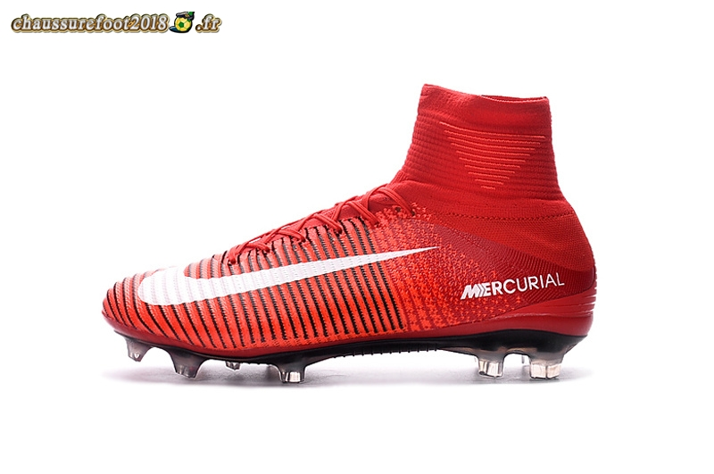 Pas Chaussure Fg Offres Blanc Rouge Mercurial Superfly Cher Nike rdBCoex