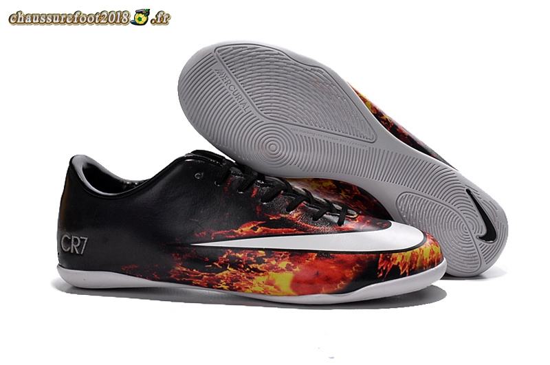 Offres Chaussure Nike Mercurial Veloce CR7 INIC Noir Cramoisi Blanc - Meilleur Chaussures de Foot