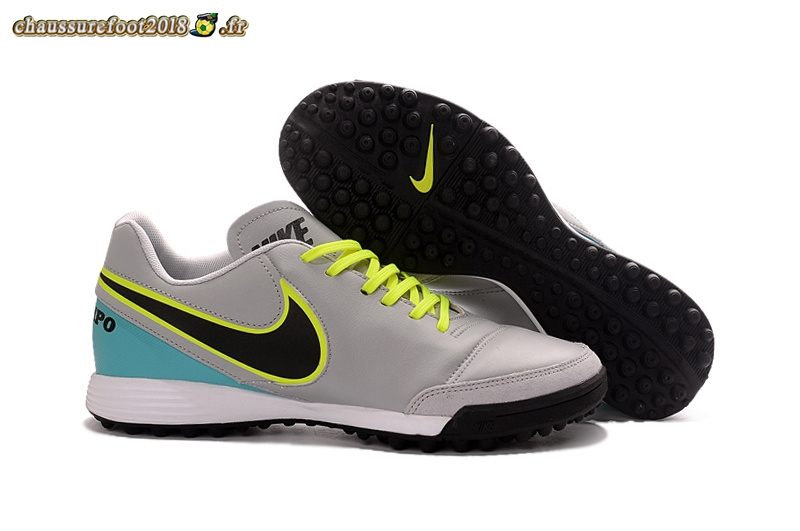 Offres Chaussure Nike Tiempo Mystic V TF Gris - Chaussures de Foot