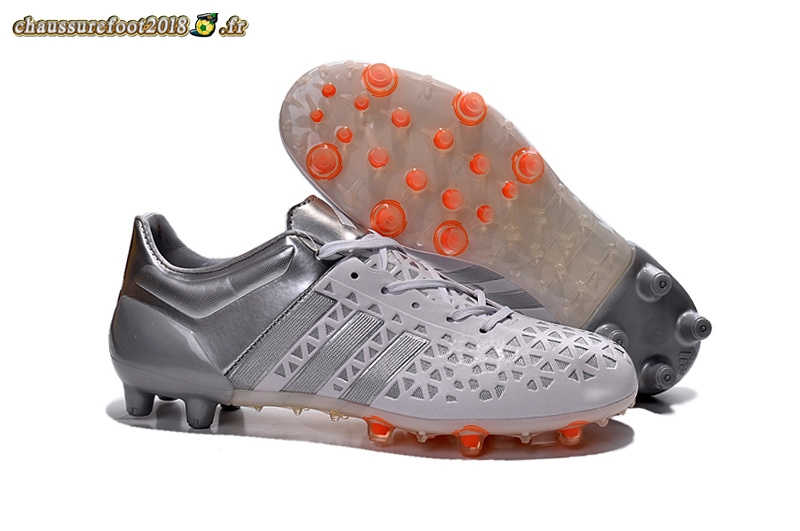 huge selection of 92fe6 4e99c Personnaliser Chaussure Adidas Ace 15.1 AG Gris Noir - Crampon de Foot