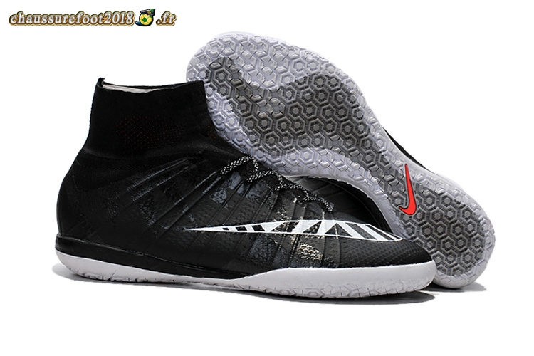 Personnaliser Chaussure Nike MercurialX Proximo INIC Noir Blanc - Chaussures de Foot