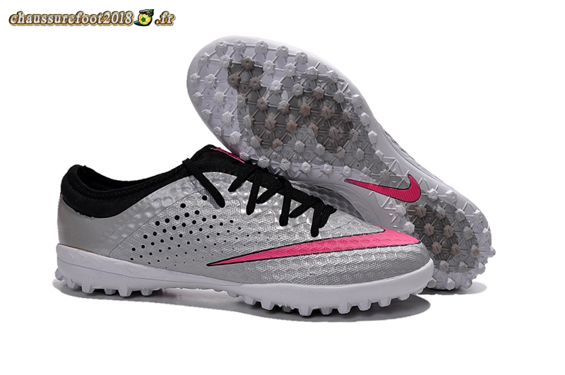Remise Chaussure Nike Elastico Finale III TF Argent Rouge - Chaussures de Foot