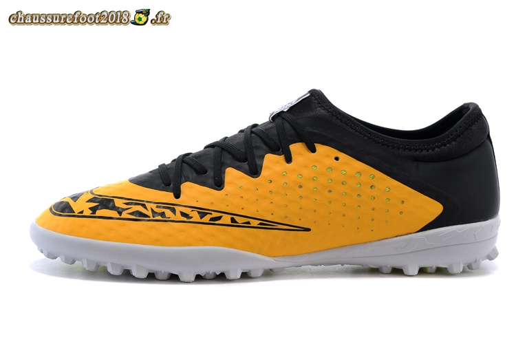 Remise Chaussure Nike Elastico Finale III TF Noir Jaune Chaussure de Foot Salle