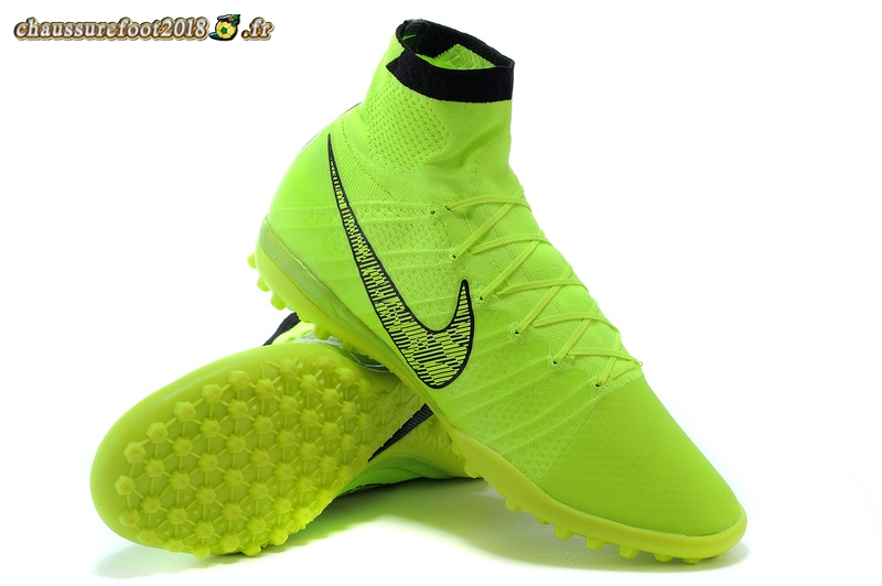 Remise Chaussure Nike Elastico Superfly TF Vert Fluorescent