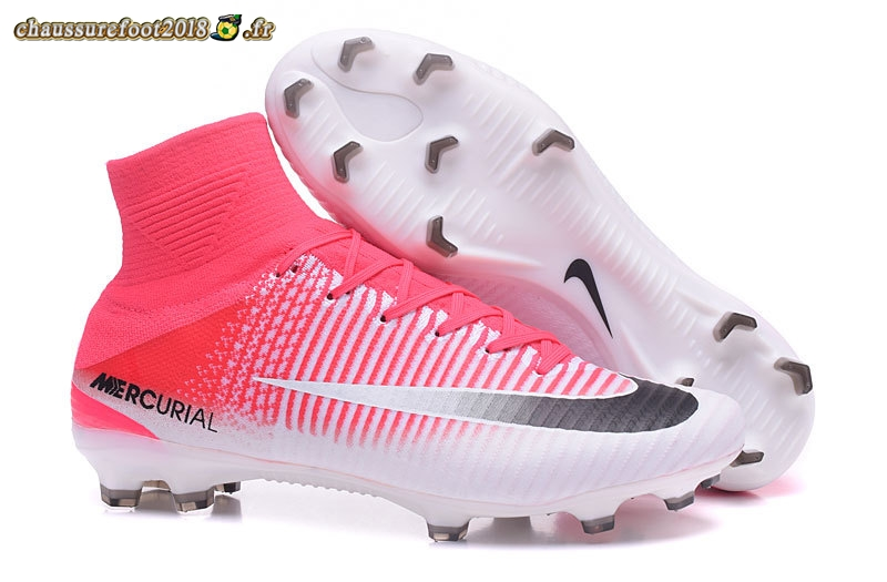Remise Chaussure Nike Mercurial Superfly V FG Blanc Noir Rouge - Crampon de Foot