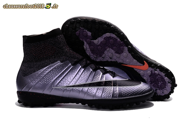 Remise Chaussure Nike MercurialX Proximo TF Noir Pourpre Rose Chaussure de Foot Salle