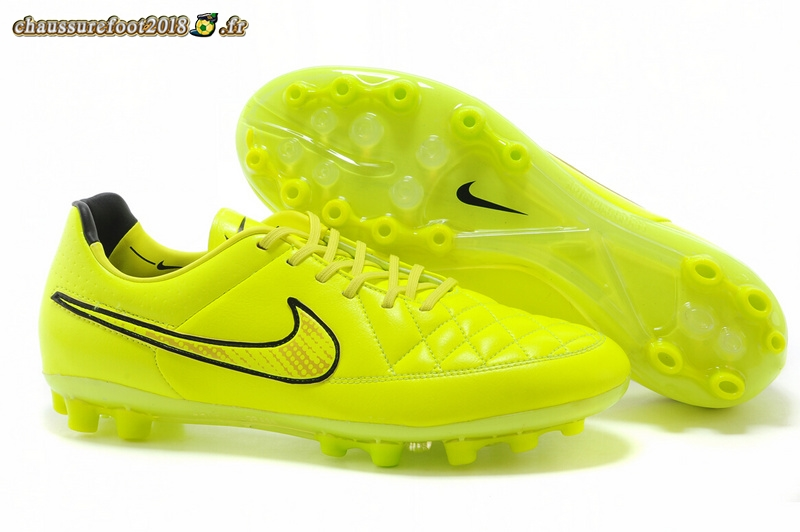 Remise Chaussure Nike Tiempo Legend V AG Vert Fluorescent Noir Vert Fluorescent - Chaussures de Foot