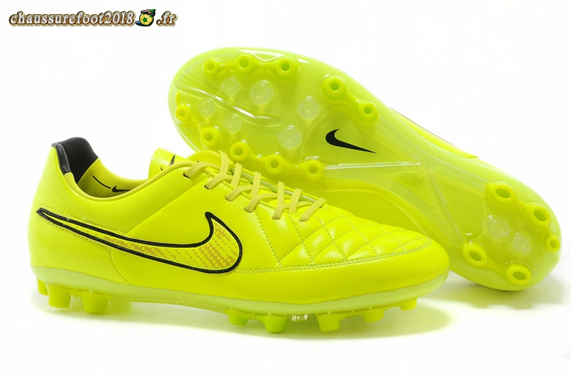 Remise Chaussure Nike Tiempo Mystic V AG Vert Fluorescent Pas Cher
