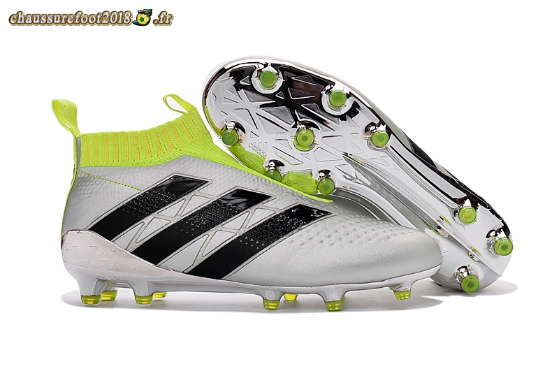Site Crampons Foot - Chaussure Adidas Ace 16+ AG Blanc Argent - Crampon de Foot