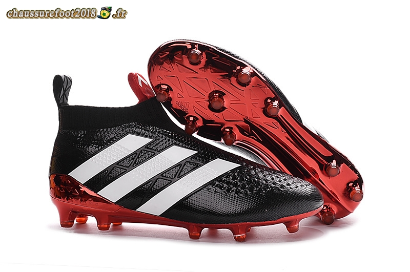 Site Crampons Foot - Chaussure Adidas Ace 16+ AG Blanc Rouge Noir - Chaussures de Foot