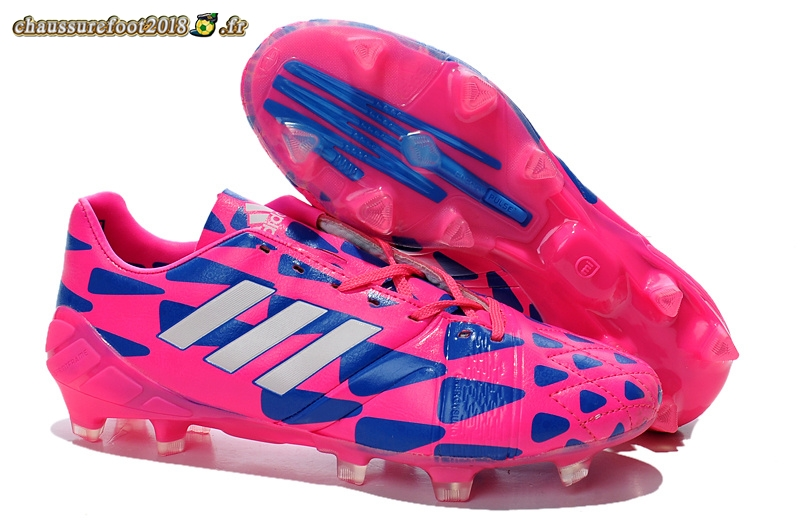 Site Crampons Foot - Chaussure Adidas Nitrocharge 1.0 FG Rouge Bleu - Chaussures de Foot