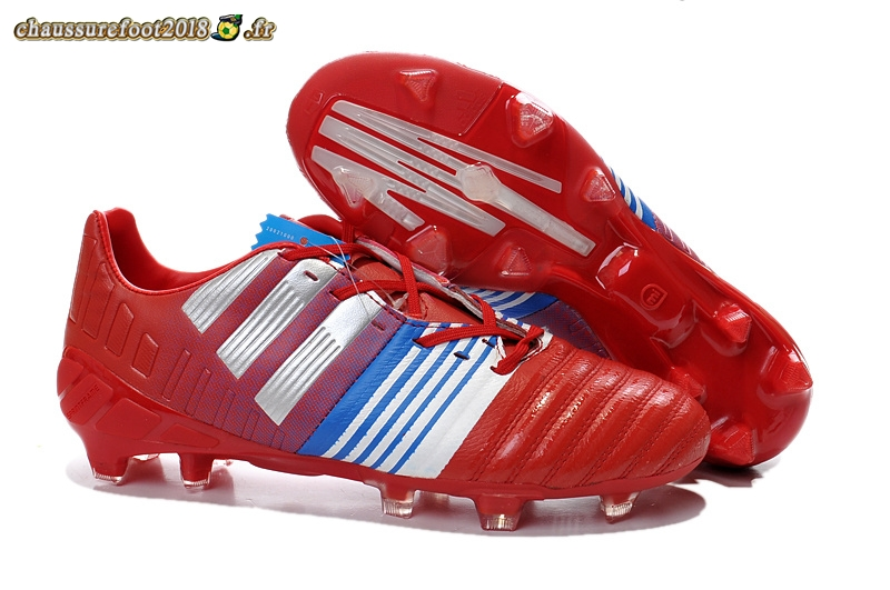 Site Crampons Foot - Chaussure Adidas Nitrocharge 3.0 FG Rouge Blanc En Ligne