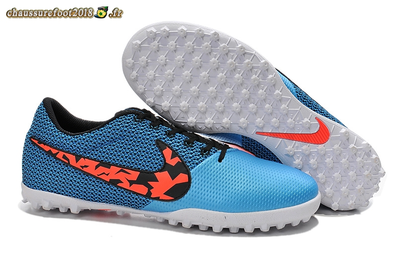 Site Crampons Foot - Chaussure Nike Elastico Pro III TF Bleu Blanc - Chaussures de Foot