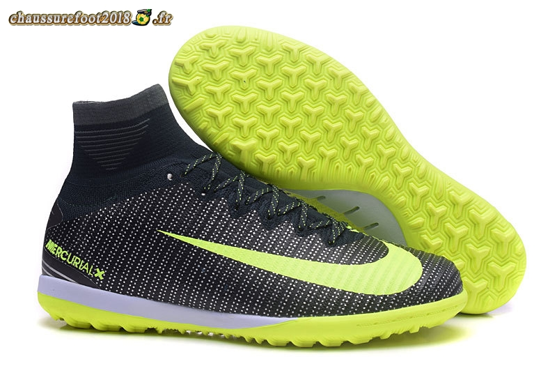 Site Crampons Foot - Chaussure Nike MagistaX Proximo II TF Noir Jaune Blanc - Meilleur Chaussures de Foot