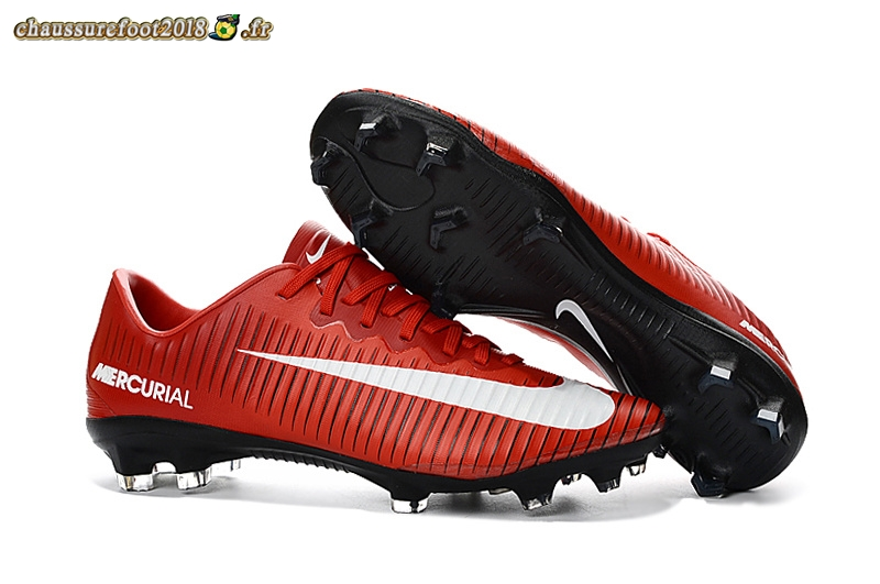 Site Crampons Foot - Chaussure Nike Mercurial XI FG Rouge Chaussure de Foot Salle