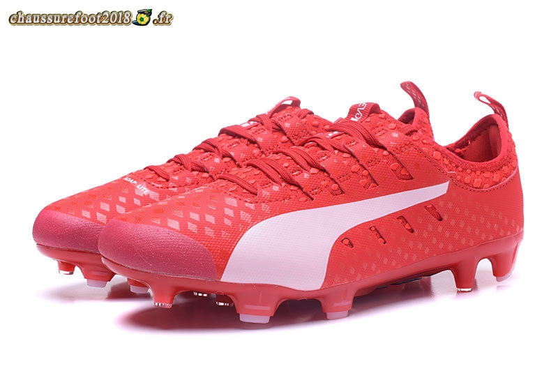 Site Crampons Foot - Chaussure Puma evoPOWER Vigor 1 FG Rouge Pas Cher