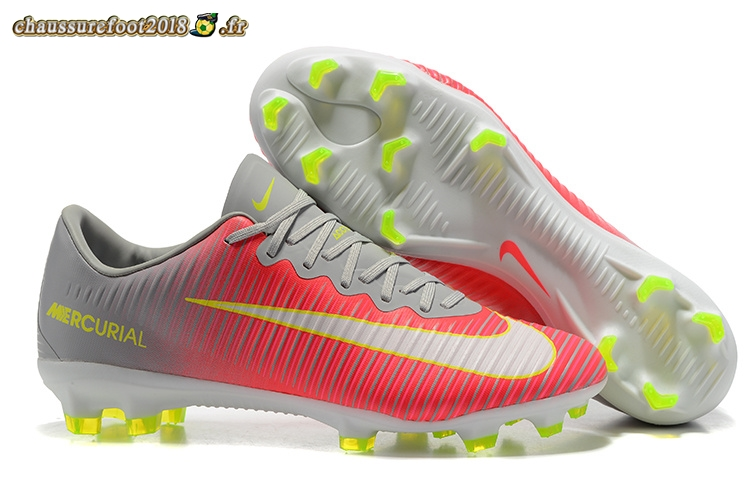 Soldes Chaussure Nike Mercurial Superfly V FG Gris Rouge Blanc En Solde