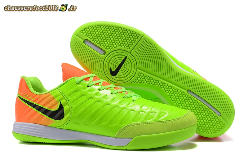 Trouver - Chaussure NIke Tiempo Mystic VII INIC Vert Orange Chaussure de Foot Salle