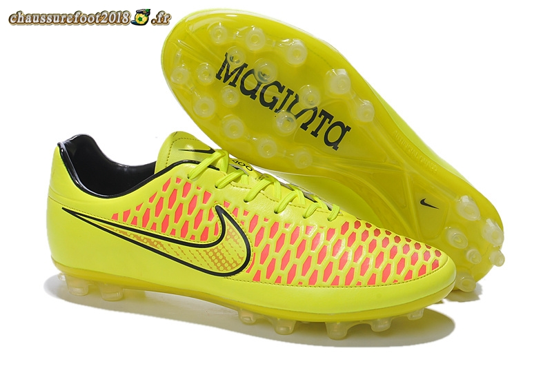Trouver - Chaussure Nike Magista Opus AG Vert Fluorescent Rouge Pas Cher