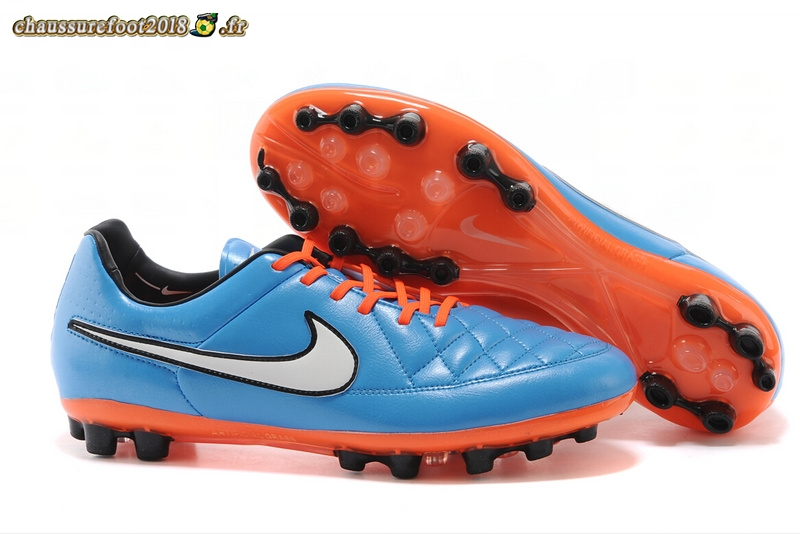 Trouver - Chaussure Nike Tiempo Mystic V AG Bleu Rouge Chaussure de Foot Salle