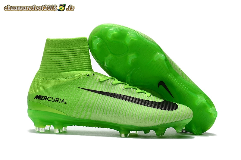 Vente Chaussure Nike Mercurial Superfly V FG Vert - Chaussures de Foot