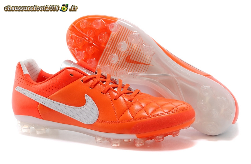 Vente Chaussure Nike Tiempo Mystic V AG Rouge Blanc Pas Cher